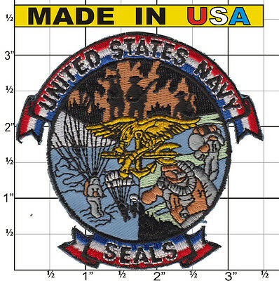 Seal Team 6 SIX VI Iron On Hat Patch US Navy  - USA MADE -