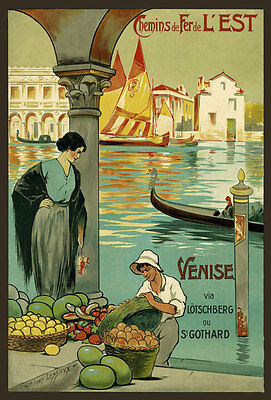 TT61 Vintage Venice French Railway Travel Poster A3 A2 Re-print