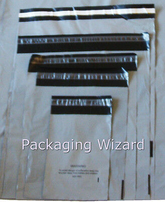 Mailing / Postal Bags ~ Biodegradable ~ Grey ~ Mixed Sizes x 50 ~ Self Seal