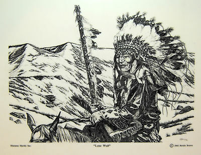 Native American Indian Dancer Etched Montana Marble Art by Bernie Brown