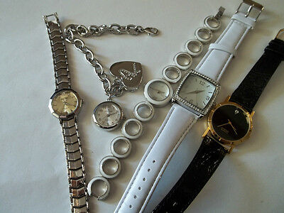 5 pc watch lot,ladies,great cnd,working,MARCO MAX, MINICCI,