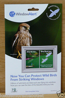 Window Alert Transparent Hawk Decals Prevent Window Strikes Protect Wild Birds