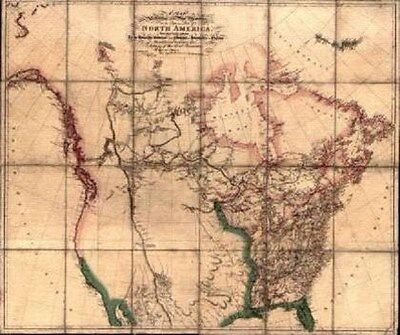 Historical Reproduction - Arrowsmith Map of North America 1795 Fine Art Litho