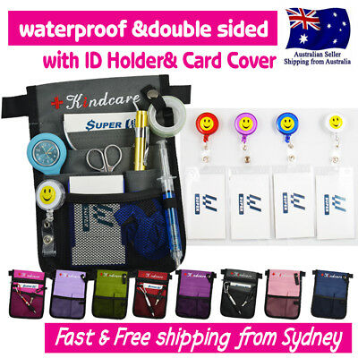 "NURSES POUCH WAIST BAG ""extra pocket"" QUICK PICK BAG +FREE ID HOLDER &CARD COVER"