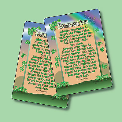 """Remember"" - An Irish Blessing - 2 Verse Cards - sku# 524"