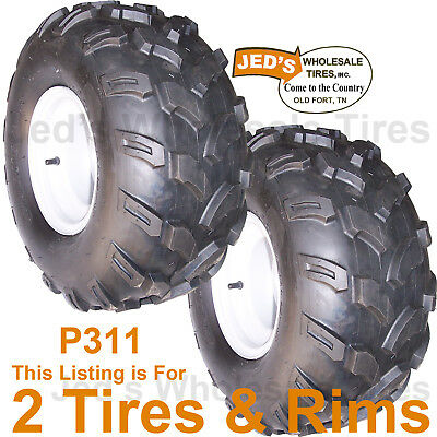 2) 20x9.50-8 20/9.50-8 Golf Cart Go Kart TIREs RIMs WHEEL 4ply replace 18x8.50-8