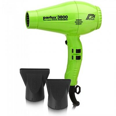 New PARLUX 3800 GREEN Hair Dryer Ceramic & Ionic Super Compact  Hairdryer