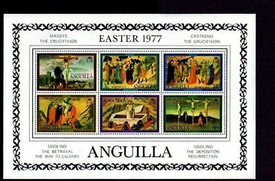 Anguilla - 1977 - Easter - Crucifixion - Art  Mint S/s!