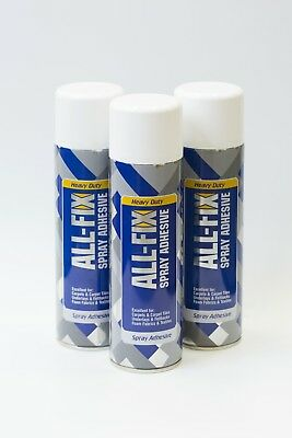3 cans multi purpose contact heavy duty spray glue adhesive carpet upholstery