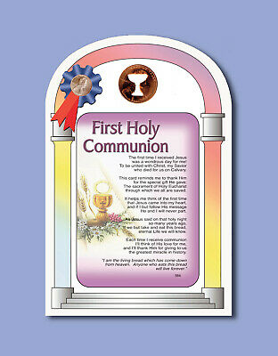 First Holy Communion Verse Card w Chalice Penny -Sku# 564