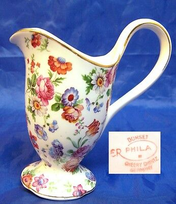 Dorset Cheery Chintz Erphila Germany Small Tall Creamer 3 oz.