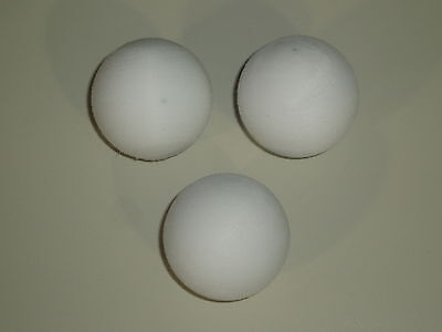 FOOTBALL TABLE BALLS 3 / 6 / OR 9 36 mm SCUFFED WHITE BALLS