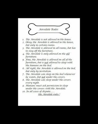 "Airedale Terrier ""Rules"" Dog Art Print - Matted"