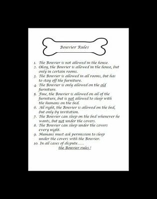 "Bouvier des Flandres ""Rules"" Dog Art Print - Matted"