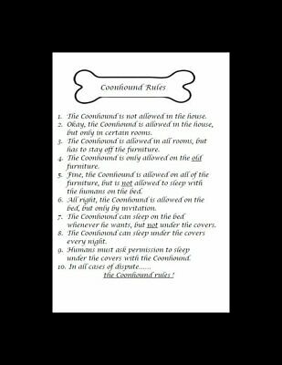 """Coonhound """"Rules"""" Dog Art Print - Matted"""
