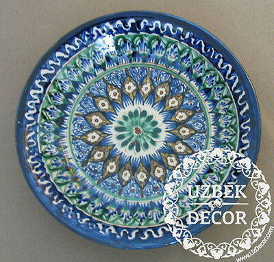 UZBEK NATIONAL HAND MADE PAINTED CERAMIC PLATE #8686