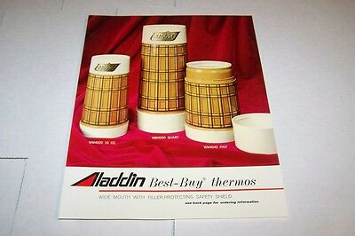 Vintage 1970s ALADDIN BEST BUY THERMOS ad sheet #0145
