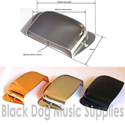 Superior quality Jazz  bass guitar bridge cover in chrome black of gold
