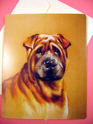 Shar Pei Greeting Card - Blank Note Card - sku 030