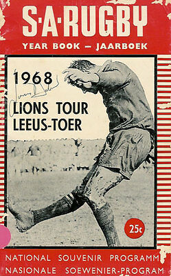 BRITISH LIONS 1968 3rd TEST v SOUTH AFRICA RUGBY PROGRAMME SIGNED