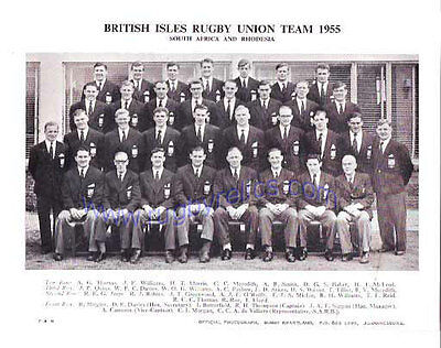 Official Team Photograph British Lions Tour Of South Africa 1955