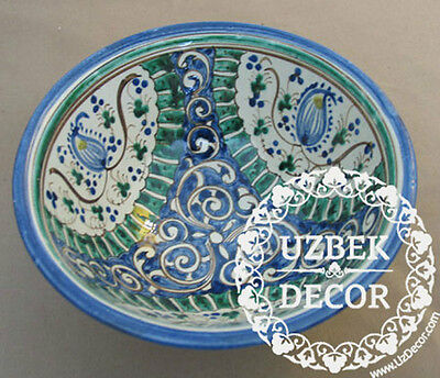 UZBEK NATIONAL HAND MADE PAINTED CERAMIC CUP ''COSA'' #8708
