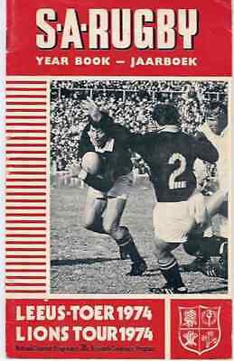 BRITISH LIONS v SOUTH AFRICA 1st TEST 1974 RUGBY PROGRAMME - SA YEARBOOK EDITION