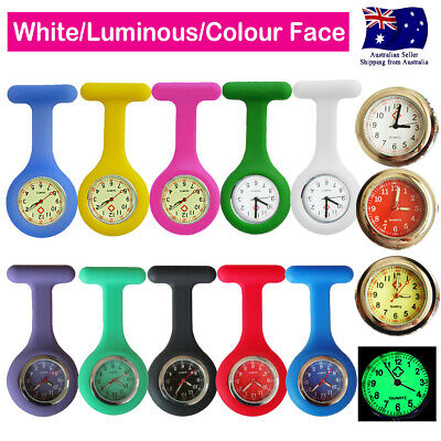 Nurse Watch FOB Silicone Pocket Watch for Pouch Bag Wallet Luminous Colour Face