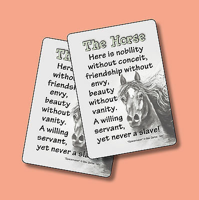 The Horse - Poem - 2 Verse Cards - SKU# 581