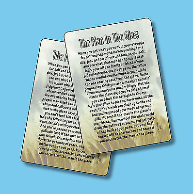 """The Man In The Glass"" - Motivational Poem - 2 Verse Cards - SKU# 802"