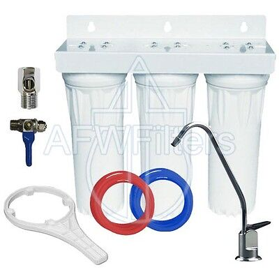 Drinking Water Filter 3 stage undersink sediment GAC carbon with faucet