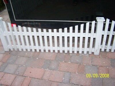 38' c1900 victorian house garden picket fence w/ posts