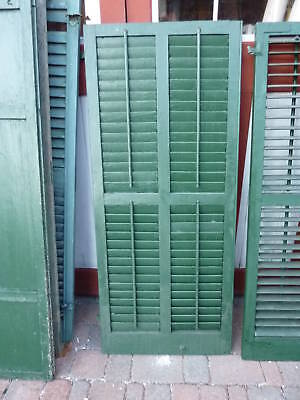 HUGE victorian DOUBLE wide louver SHUTTERs 57.5 x 24""