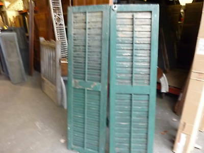 GREAT pr victorian louver shutters green 66 x 19""