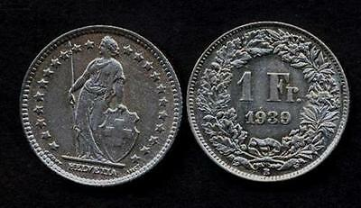 SWITZERLAND 1 Franc 1939 VF