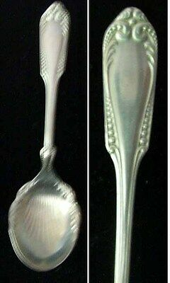 "Antique Sugar Shell Spoon Associated Silver Co Silverplate 5 3/4"" Long Nice"
