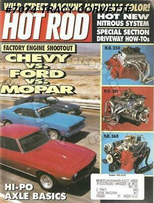 October 1992 Hot Rod Mopar 360 Duster Ford 351W Mustang '72 Pontiac GTO 50 Chevy