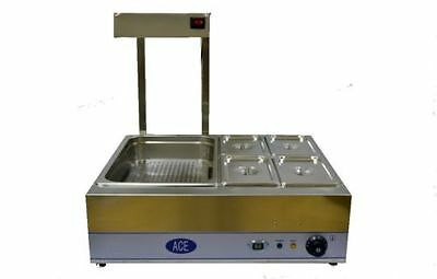 Combination Chip Scuttle  And 4 Pot Dry Bain Marie
