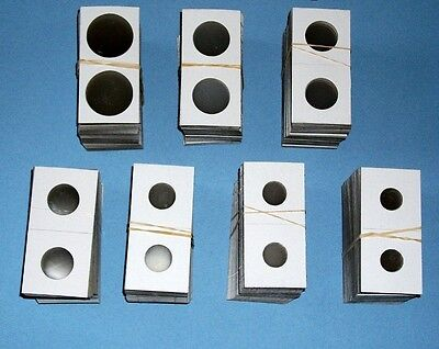100 Assorted-YOU PICK 2X2 Cardboard/Mylar Coin Holders Flips-PREMIUM QUALITY