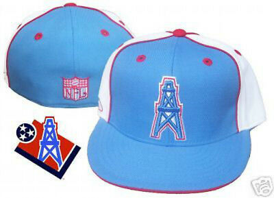 Houston Oilers Hat Cap NFL Throwback Fitted Size 7 1 4 Reebok Throwback  Vintage 00a0cb41125f