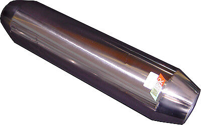 "Tornado Resonator, Hot Dog 12"" x  2.5"" in/out HIGH FLOW Stainless Steel RES04/1"