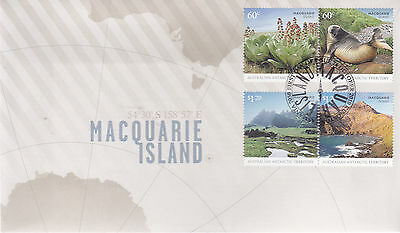 2010 AAT Macquarie Island  FDC - (Gummed Stamps) Kingston Tas 7050 PMK