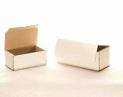 50 5 x 3 x 2 White Corrugated Mailers Die Cut Tuck Flap Boxes Free Shipping