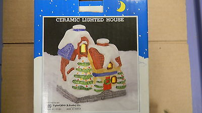 Retired Christmas Village Ceramic Lighted House 1206E