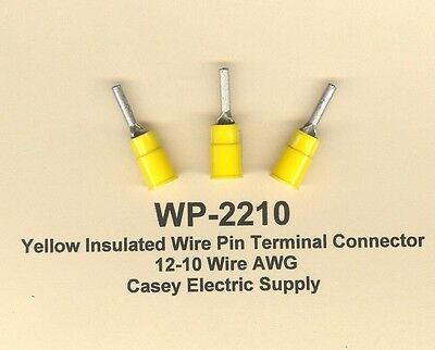 25 YELLOW Insulated WIRE PIN Terminal Connectors 12-10 Wire AWG MOLEX