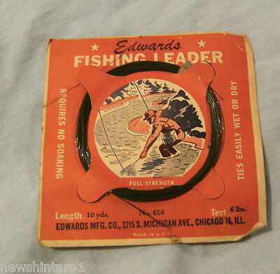 Edwards Brand Usa Synthetic Fly Fishing Leader -  6 Lbs, 10 Yds