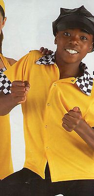 NWT 50's style Dance Shirt Snap front Bowling Carhop Taxi Checkered 2 COLORS