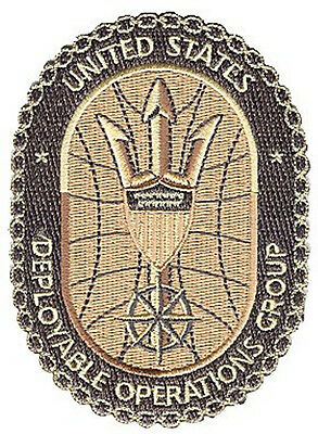 Deployable Operations Group desert W5034 Coast Guard patch iron on