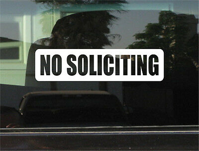 No Soliciting Vinyl 8 Inch Decal/sticker