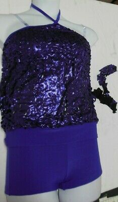 NWT Flyer Tunic Contemporary Dance Costume Silver Foiled Gray Textured Chld//Adlt